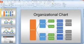 Powerpoint Organizational Chart Template by Free Org Chart Powerpoint Template