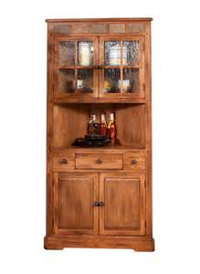 sd 2451ro 36 quot sedona rustic oak corner hutch and buffet oak hutches in arizona oak buffet in