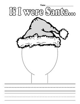 christmas writing activities for 2nd grade if i were santa creative writing prompt and second grade