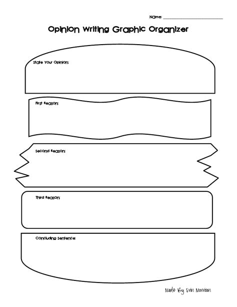 sandwich template for writing opinion writing graphic organizer sandwich pdf