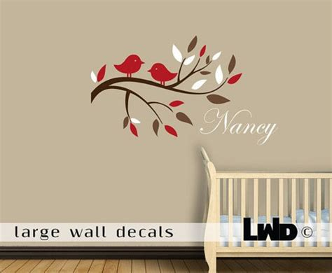 Baby Name Wall Decals For Nursery Nursery Tree Wall Decal Baby Name Vinyl Birds Lover Branch Trees Bird Home House Wall Sticker