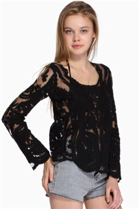 Blouse Black Isn makeup fashion giveaway win a 3d embroidery