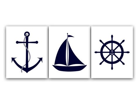 printable anchor wall art nautical nursery wall art instant download printable nursery