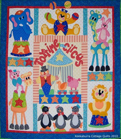 Circus Quilt by Toytime Circus Pattern Only Kookaburra Cottage Quilts