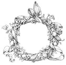 Vintage Clip Art   Fab Ornate Wreath   Frame   The