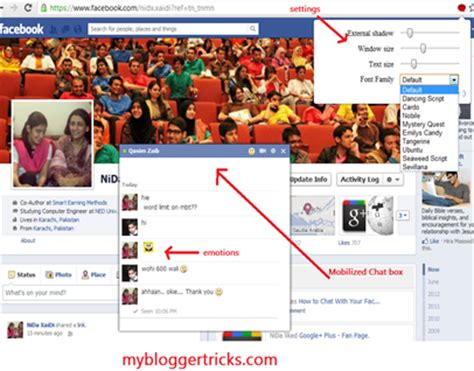 change your facebook theme within 5 minutes stylish customize facebook chat change font size add emoticons