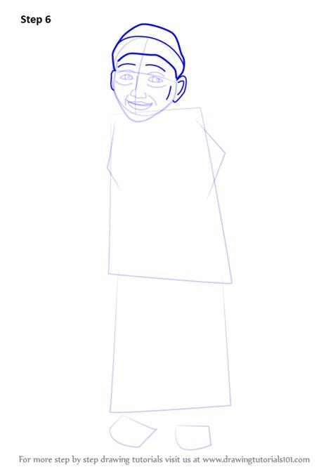 tutorial upin ipin flanel learn how to draw opah from upin ipin upin ipin step