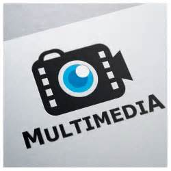 Multimedia camera video movie film cinema logo template one