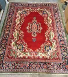 vintage signed mahal persian rug w nice floral design