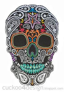 diy halloween mexican skull wall art cuckoo4design