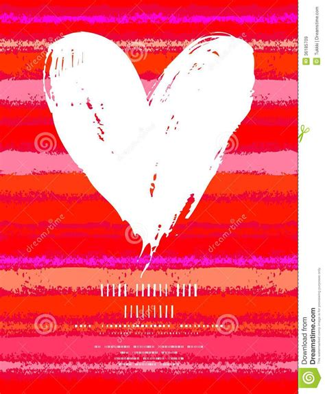 valentines day card template stitch card with on striped background stock