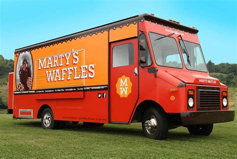 design your own mobile food truck marty s waffles