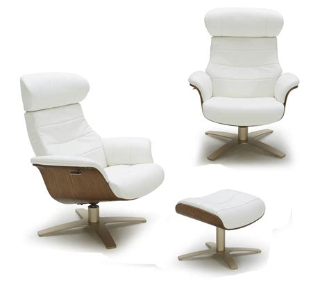 Futuristic Modern Leather Upholstered Swivel Lounge Chair Swivel Modern Chairs