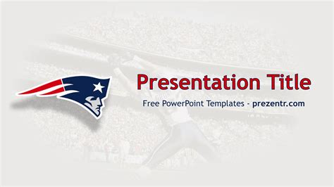 Free New England Patriots Powerpoint Template Prezentr New Ppt Templates