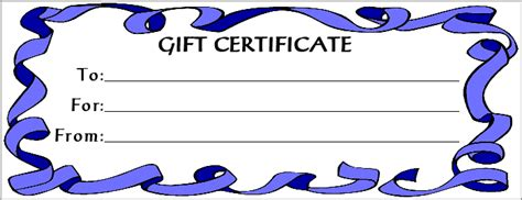 printable gift certificates for stores clipart gift certificate clipart best