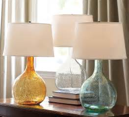 Eva colored glass table lamp 99 has subtle 5 colorful gourd table