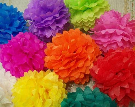flores en papel seda paso a paso flores de papel
