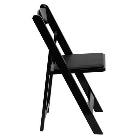 black wood folding dining chair black wood folding chair w padded seat