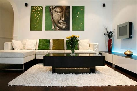 small modern living room with painting wall ideas