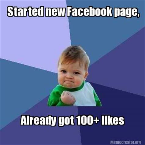 meme creator started new facebook page already got 100
