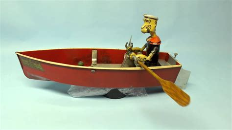 cartoon popeyes boat rare antique 1935 hoge popeye the sailor mechanical