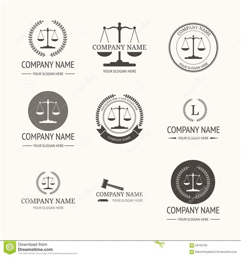 firm logo templates firm logo template set of vintage labels stock vector