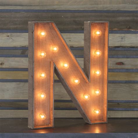 Decorative Home Items by Edison Marquee Letter Quot N Quot Town Amp Country Event Rentals