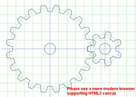 an online gear template generator for making paper cutting