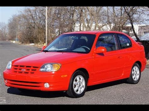 2004 Hyundai Accent 5 Speed Manual Red Youtube