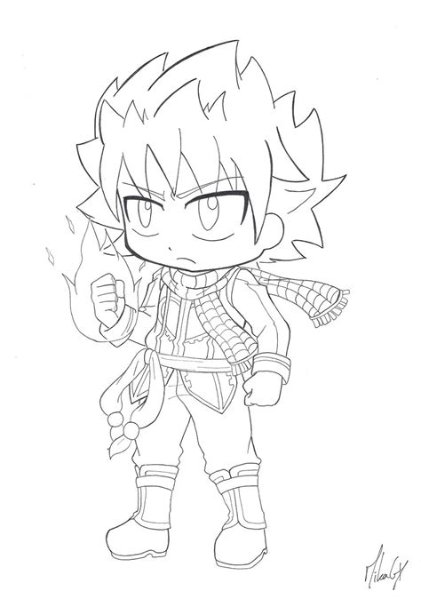 fairy tail coloring pages chibi chibi natsu dragneel v 2 by mikagx on deviantart