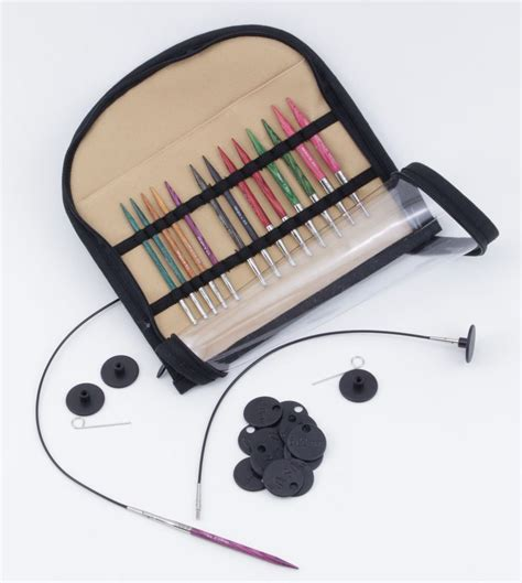 interchangeable knitting needle sets dreamz interchangeable special 16 quot knitting needle set by