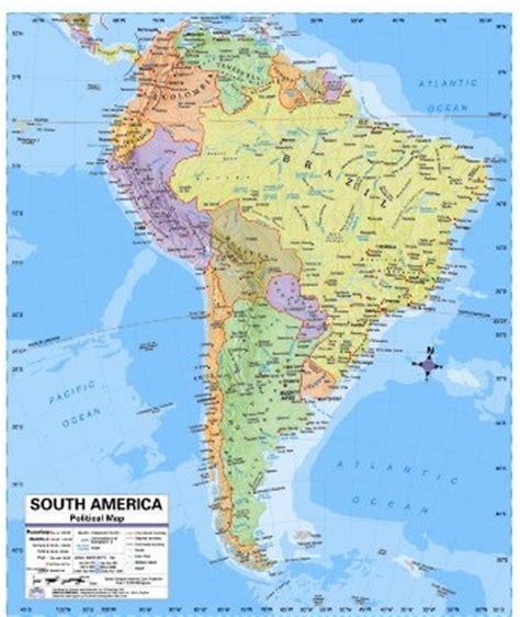 south america desk map south america political desk map