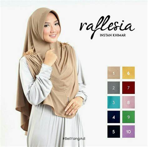 Jilbab Instant Alesya Kerudung Khimar jilbab instant khimar raflesia baju gamis terbaru