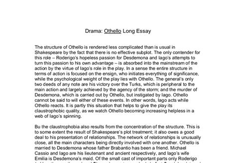 thesis for othello all about me essay ideas for othello free essay on high