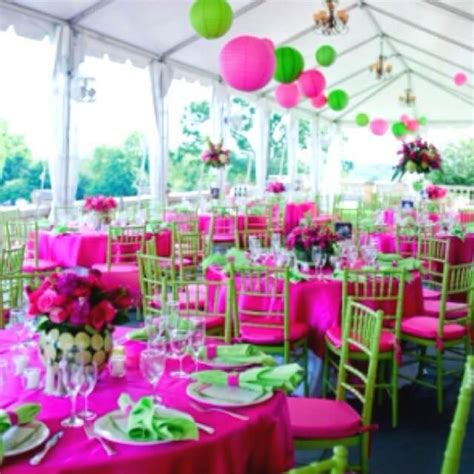 pink and green home decor green and pink wedding tables