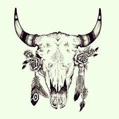 1000 Images About Sketch On Pinterest Sketches Bull Skull Tattoos With Feathers