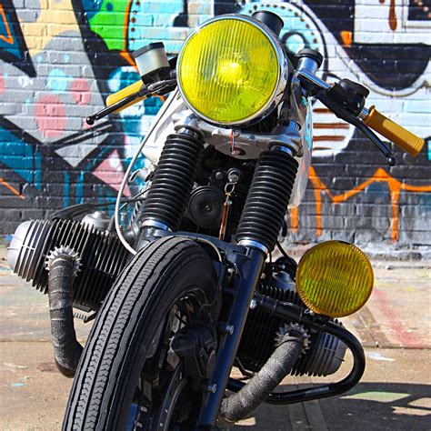 Light Yellow Paint by 1983 Bmw R100 Cafe Racer By Ironwood Motorcycles Bikebound