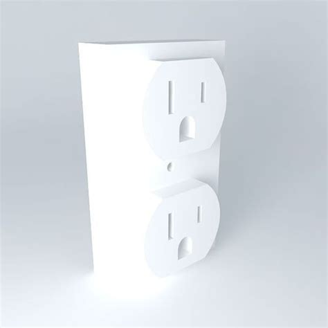us 120 vac electrical outlet free 3d model max obj 3ds