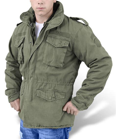 Jaket Parka Classic surplus vintage regiment m65 jacket washed classic parka