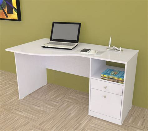 Modern Desk White Inval White Modern Curved Top Desk Contemporary Desks And Hutches By Overstock
