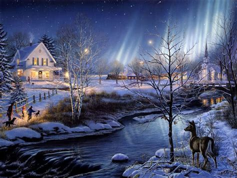 Home Decor Infographic by Beautiful Winter Night Wallpaper Image Images Photos