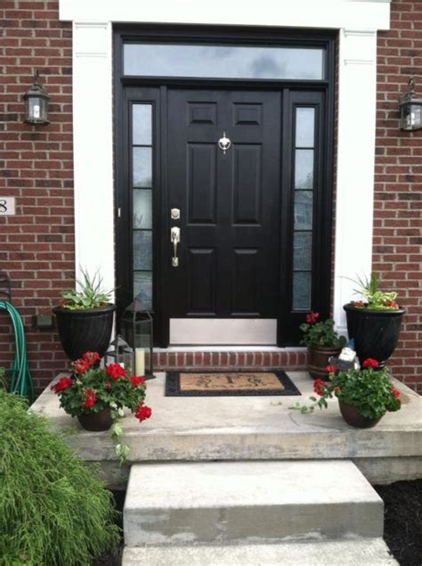 front doors for houses stylish black front doors change your house s curb appeal