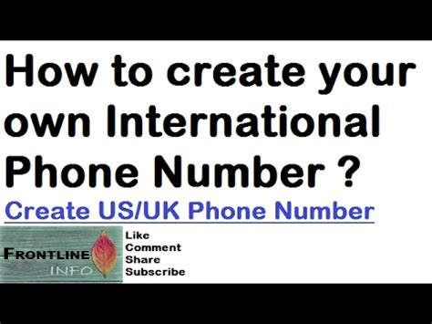 how to make your number on android how to create your own international number android phone