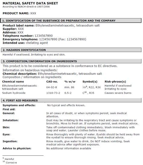 material data sheet template exle msds sheet search engine at search