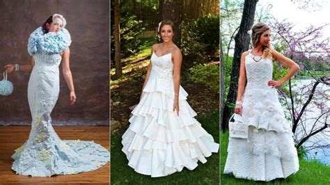 How To Make A Dress Out Of Tissue Paper - these wedding dresses made of toilet paper are