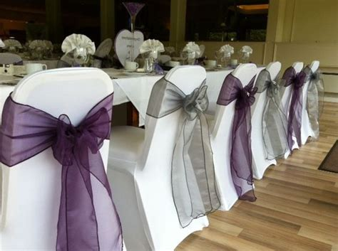 platinum and plum wedding gallery table angels wed