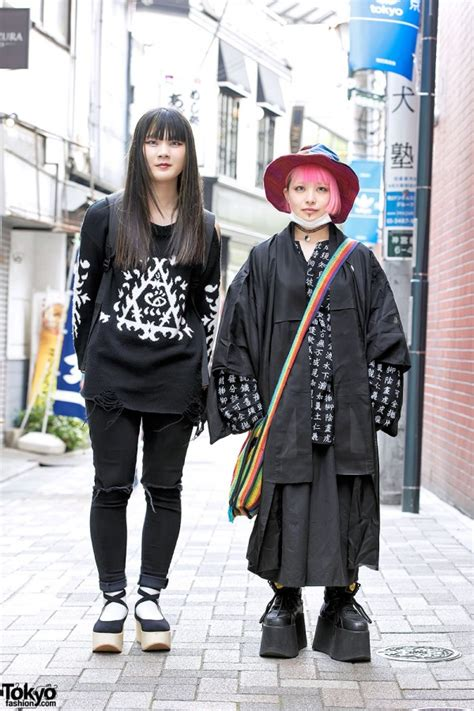 Backpack Anello Kpop Ikon harajuku in black w kanji print tokyo bopper