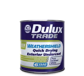 drying exterior paint dulux trade weathershield drying exterior undercoat