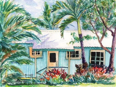 kauai vacation cottages tropical vacation cottage painting by marionette taboniar