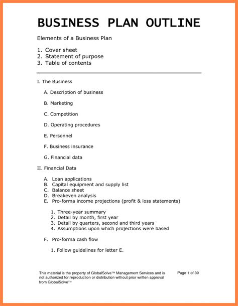 6 month business plan template 3 year business plan template business form templates